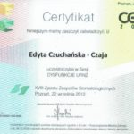 Edyta Czuchanska-Czaja certyfikat-18