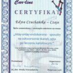 Edyta Czuchanska-Czaja certyfikat-21