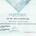 Edyta Czuchanska-Czaja certyfikat-27