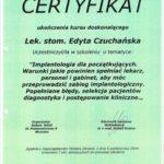 Edyta Czuchanska-Czaja certyfikat-30