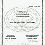 Edyta Czuchanska-Czaja certyfikat-32