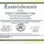 Edyta Czuchanska-Czaja certyfikat-37