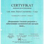 Edyta Czuchanska-Czaja certyfikat-42