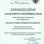 Edyta Czuchanska-Czaja certyfikat-53
